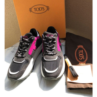 TOD'S - Tod's トッズ スニーカー 36 黒×ピンク 厚底 美品