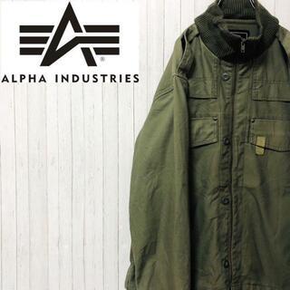 ALPHA INDUSTRIES - アルファインダストリーズ ミリタリー フライトジャケット 3A382 カーキ M