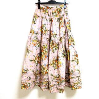カネコイサオ(KANEKO ISAO)のカネコイサオ レディース美品  - 花柄(ロングスカート)