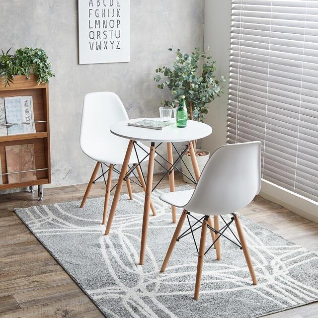 ダイニングテーブル & チェア  3点セット インテリア/住まい/日用品の机/テーブル(ダイニングテーブル)の商品写真