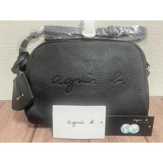 agnes b. - 新品未使用 アニエスベー エンボスロゴ レザーショルダーバッグ ブラック