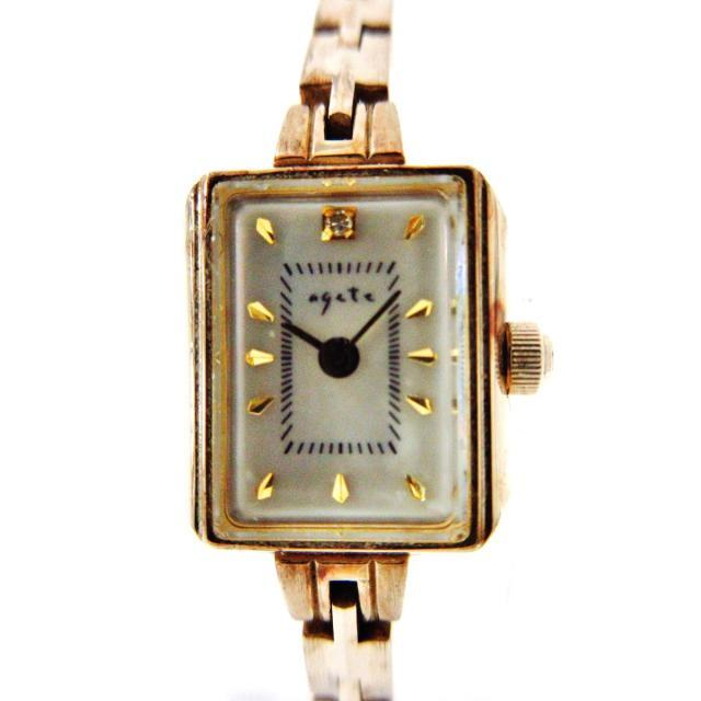 agete(アガット)のアガット - レディース ホワイトシェル レディースのファッション小物(腕時計)の商品写真