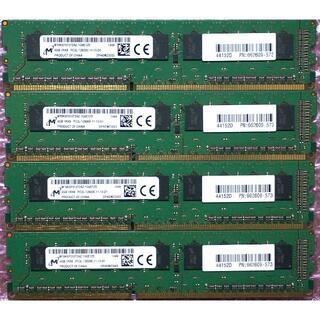 ヒューレットパッカード(HP)のHP純正メモリ DDR3 PC3L-12800E 4GB4枚組 計16GB(PCパーツ)