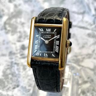Cartier - 全て純正⭐️カルティエ Cartier マストタンク ブラック SM 腕時計