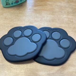 靴下ニャンコ コースター×2枚(テーブル用品)