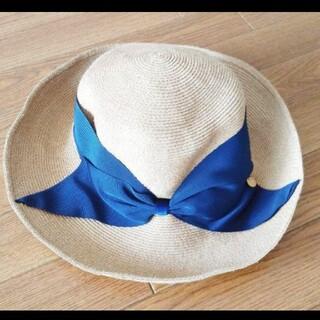 ユナイテッドアローズ(UNITED ARROWS)のアシーナニューヨーク Athena NEWYORK 麦わら帽子 リサコ ネイビー(麦わら帽子/ストローハット)