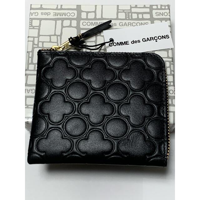 COMME des GARCONS(コムデギャルソン)の新品未使用 コムデギャルソン コインケース ミニウォレット エンボスレザー 黒 レディースのファッション小物(コインケース)の商品写真