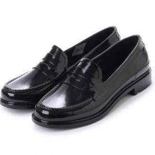 ハンター(HUNTER)の【新品】HUNTER ハンター ローファー 黒 25センチ(ローファー/革靴)