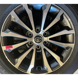 トヨタ - プラド150系後期純正ホイール、タイヤ4本セット(ロックナット付き)