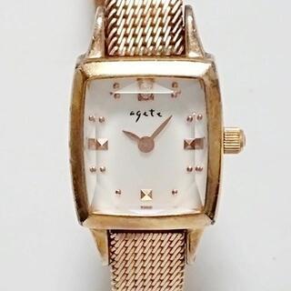 アガット(agete)のアガット - レディース ホワイトシェル(腕時計)