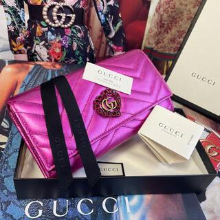 Gucci - 【正規品】極美品✨GUCCI グッチ マーモント ビジュー ハート 長財布