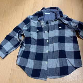 ジーユー(GU)の110センチGUのチェックシャツ(ブラウス)