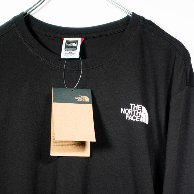 THE NORTH FACE(ザノースフェイス)の欧州限定◆21SS◆ノースフェイス アームロゴロンT黒 UK L 日本L相当 メンズのトップス(Tシャツ/カットソー(七分/長袖))の商品写真