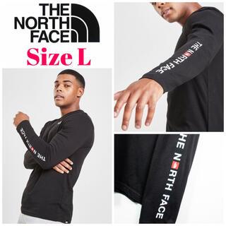 THE NORTH FACE - 欧州限定◆21SS◆ノースフェイス アームロゴロンT黒 UK L 日本XL相当