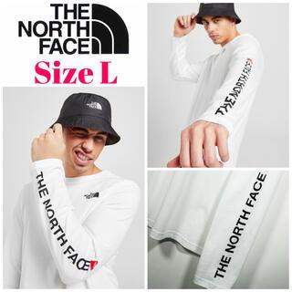 THE NORTH FACE - 欧州限定◆21SS◆ノースフェイス アームロゴロンT白 UK L 日本L相当