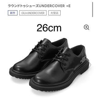 GU - 新品 gu アンダーカバー ラウンドトゥシューズ 黒 26