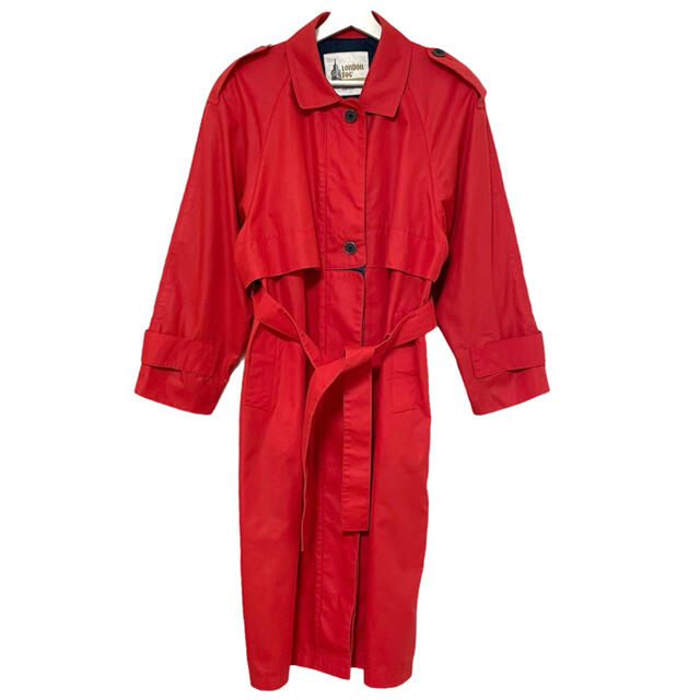 BURBERRY(バーバリー)の80's LONDON FOG ロンドンフォグ トレンチコート USA製 赤 レディースのジャケット/アウター(トレンチコート)の商品写真