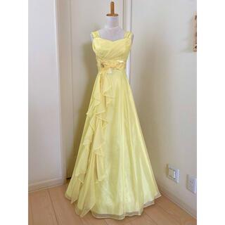 エメ(AIMER)のAIMER レモンイエロー 2wayロングドレス カラードレス 黄色(ロングドレス)