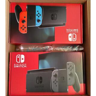 ニンテンドースイッチ(Nintendo Switch)のNintendo switch 2台セット(家庭用ゲーム機本体)