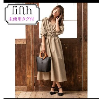 fifth - 【未使用タグ付き】ウエストギャザーロングワンピース☆fifth
