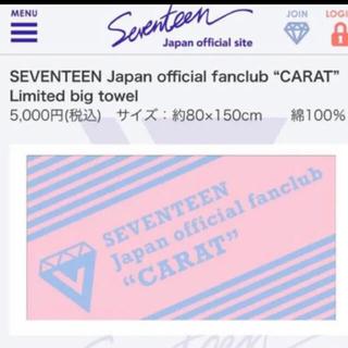 セブンティーン(SEVENTEEN)のSEVENTEEN ビッグ タオル(K-POP/アジア)