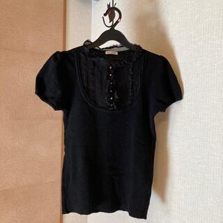 レストローズ(L'EST ROSE)のレストローズ  黒半袖ニット2(ニット/セーター)