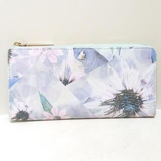 ランバンオンブルー(LANVIN en Bleu)のランバンオンブルー - 花柄/L字ファスナー(財布)