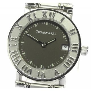 Tiffany & Co. - ティファニー アトラス デイト  クォーツ レディース 【中古】