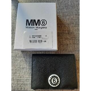 エムエムシックス(MM6)のエムエム6 MM6 メゾンマルジェラ 二つ折り財布 ブラック(財布)