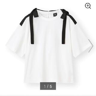 アンダーカバー(UNDERCOVER)のgu undercoverリボンデザインTアンダーカバーサイズMホワイトオンライ(Tシャツ(半袖/袖なし))