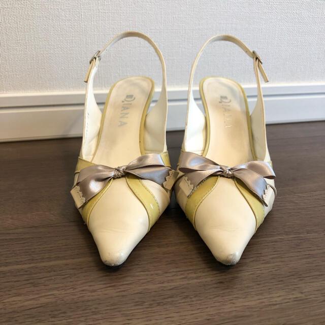 DIANA(ダイアナ)のDIANA 春夏 リボン パンプス 美品 レディースの靴/シューズ(ハイヒール/パンプス)の商品写真