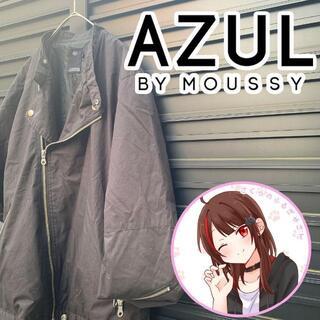 AZUL by moussy - アズール バイ マウジーコットン  ダブルライダースジャケットブラックL