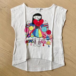マークバイマークジェイコブス(MARC BY MARC JACOBS)の【専用】リトルマークジェイコブス Tシャツ 4歳 100 可愛いミスマーク(Tシャツ/カットソー)