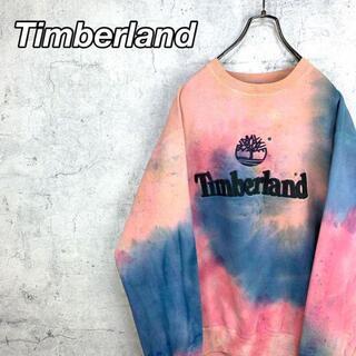 Timberland - 希少 90s ティンバーランド スウェット 刺繍 ビッグシルエット タイダイ染め