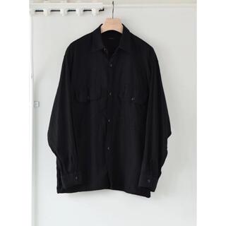 COMOLI - COMOLI 21SS新作 ベタシャン CPOシャツ ブラック サイズ3 新品