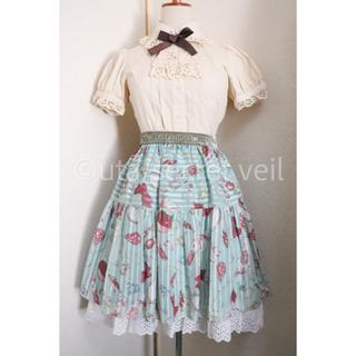 ジェーンマープル(JaneMarple)のJane Marple 宝石柄スカート グリーン ジェーンマープル(ひざ丈スカート)