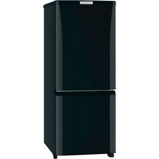 ミツビシ(三菱)の18年製 三菱電機 冷凍冷蔵庫:MR-P15C(ブラック)(冷蔵庫)