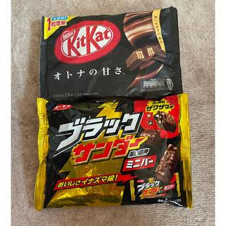 ブラックサンダーとキットカット(菓子/デザート)