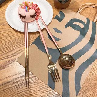 Starbucks Coffee - 台湾スターバックス 箸 スプーン フォーク 3点セット 専用