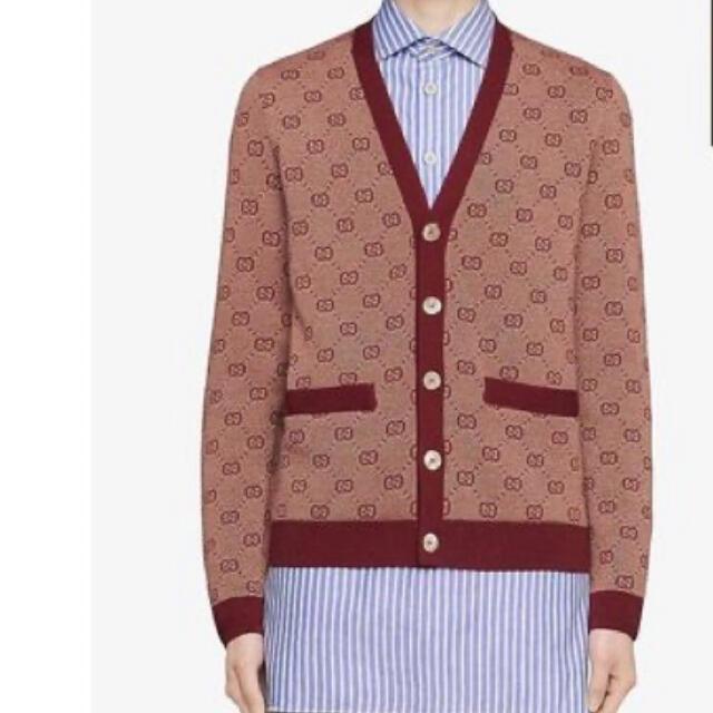 Gucci(グッチ)のGUCCI ほぼ未使用 GGパターン GGロゴ ニットカーディガン メンズのトップス(カーディガン)の商品写真
