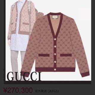 Gucci - GUCCI ほぼ未使用 GGパターン GGロゴ ニットカーディガン