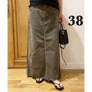 DEUXIEME CLASSE - 【SURT/サート】 コーデュロイ マキシ スカート 38 カーキ