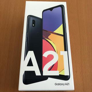 Galaxy - Galaxy A21 ブラック SIMフリー 残債なし