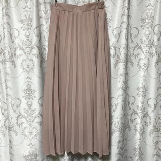 GU - くすみピンク プリーツスカート シフォン  サイズL