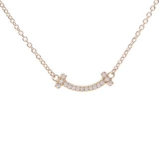 Tiffany & Co. - ティファニー  Tスマイル マイクロ ネックレス