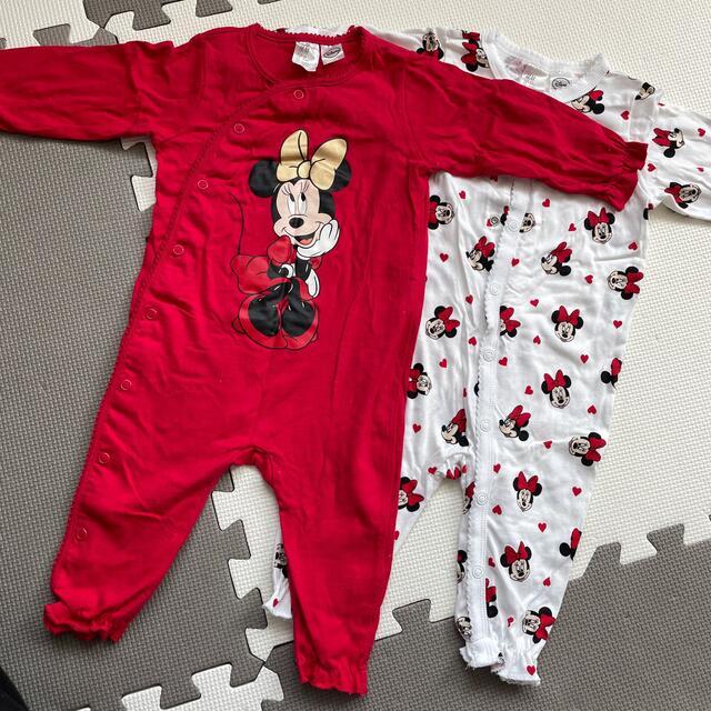 H&M(エイチアンドエム)のミニーちゃん ロンパース H&M 80センチ キッズ/ベビー/マタニティのベビー服(~85cm)(ロンパース)の商品写真