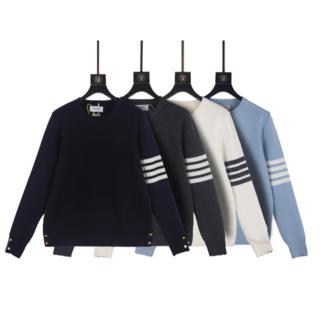 トムブラウン(THOM BROWNE)のTHOM BROWNEズマロングウールクルーネックセーター(Tシャツ/カットソー(七分/長袖))