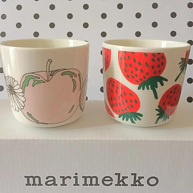 marimekko(マリメッコ)の♡マリメッコ  ラテマグ  タルフリ マンシッカ マグカップ marimekko インテリア/住まい/日用品のキッチン/食器(食器)の商品写真