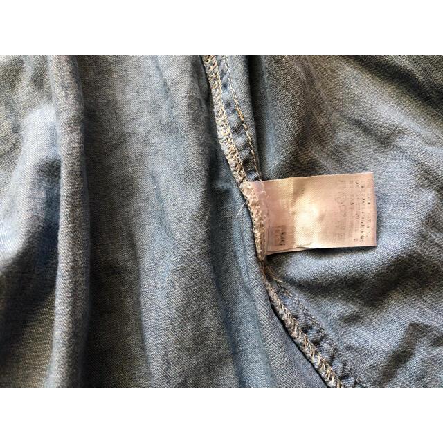 GU(ジーユー)のGU デニムシャツワンピース 110センチ キッズ/ベビー/マタニティのキッズ服女の子用(90cm~)(ワンピース)の商品写真