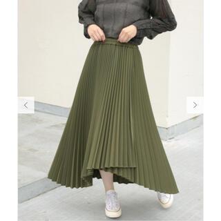 ケービーエフプラス(KBF+)の【新品未使用】KBF+ ウーリーアシメプリーツスカート(ロングスカート)